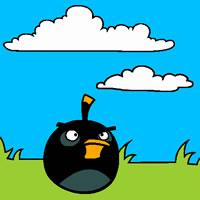 Black Bird Coloring Page