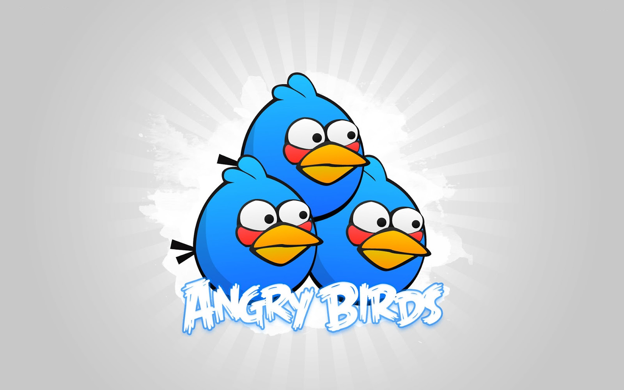 angry birds blue trinity wallpaper - angry birds wallpapers