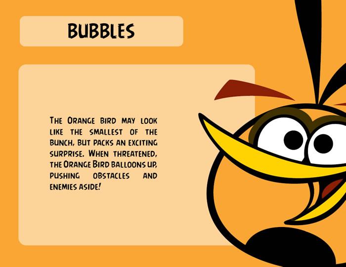 Orange Bird Character