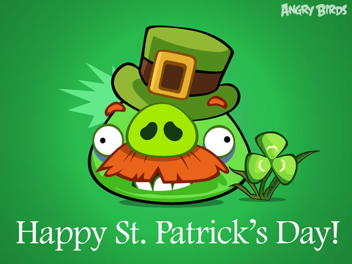 St. Patricks Day Moustache Pig