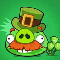 St. Patrick's Day Moustache Pig