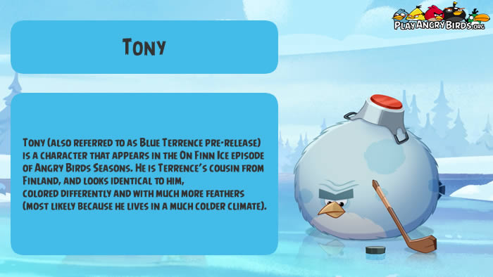 Tony - the character of Angry Birds Seasons