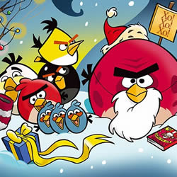 Angry Birds Merry Christmas Wallpaper - Angry Birds Wallpapers