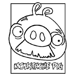 moustache pig - Mustache Coloring Pages